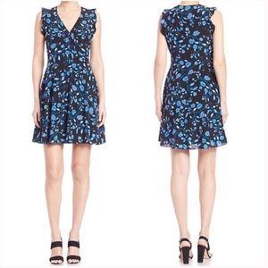 Rebecca Taylor Kyoto Sleeveless Floral Midi Dress